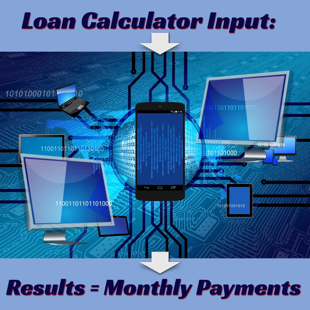 Car Title Loan Calculator Input - Results equal monthly payments